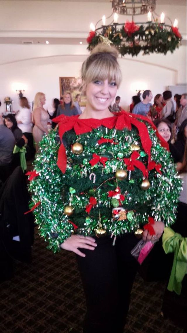 The ultimate ugly Christmas sweater. Guaranteed winner of any contest. #uglychristmassweater #christmas #sweater