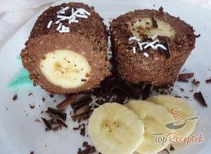Csokoládés túróba csomagolt banán