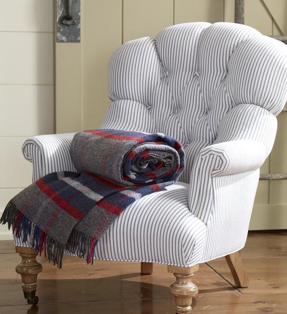 Classic Menswear Inspired Ticking Furniture Pinterest