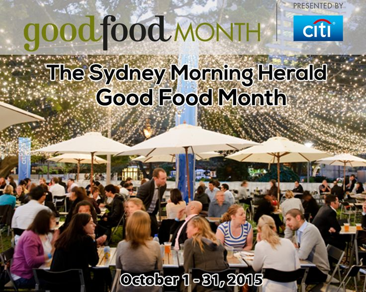 The Sydney Morning Herald Good Food Month presented by Citi is a month-long celebration of the ultimate dining experiences including Hats Off Dinners, Let's Do Lunch and NEW events such as Sweetfest, Cooking With Fire, Eat Art, and more. Featuring star chefs Ivan Orkin, Chris Ying, Jonathon Gold, Dan Lepard and Andy Bowden.