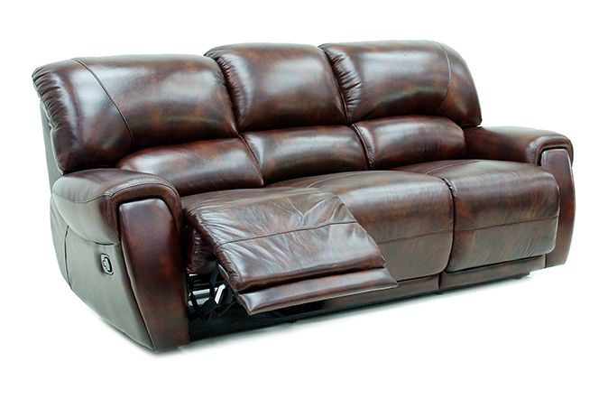 The Prague 3 Seater Recliner Sofa is rich and sophisticated and will stand out in any living space.   Finished in high grade Italian leather which is both stylish and pleasant to the touch the Prague is ideal for everyday living.