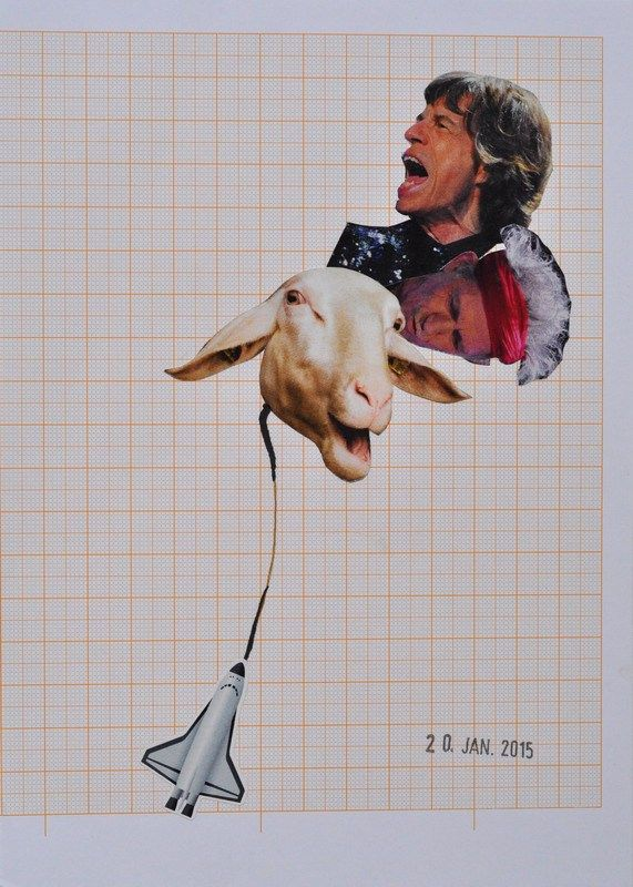 TO BUY: send an email to wegerer.roland@gmx.at  € 220,– excl. shipping |  Rocket | Collage on Paper, 14,8 x 20,9cm, 2015 Unique  The work comes with its certificate of authenticity signed by the artist. #RolandWegerer #instaSale #instaShop #forSale #product #sales #shopsmall #shopping #art #contemporary #collage
