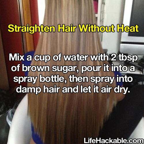 Will need to try this. Life hack: straight hair.