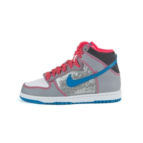 on sale 0bbb5 95708 Shop for Womens Nike Dunk High Athletic Shoe in Black Silver Pink at Shi by  Journeys
