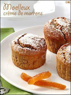 Moelleux à la crème de marrons, amande & écorces d'orange confite. Remplacer le beurre par un peu d'huile d'olive