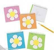 BUTTERFLY  GARDEN  PARTY Notepads featuring a Foam Flower - Great Party Favour