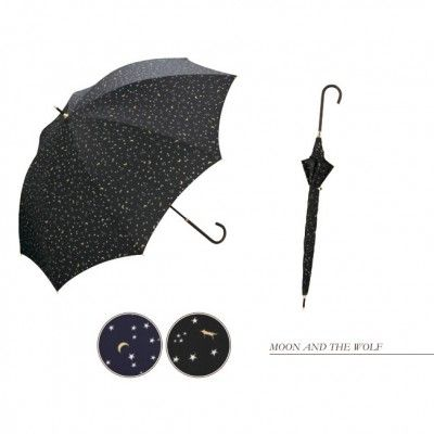 The Moon and The Wolf Black Stars Umbrella $33 from Mol&Bear