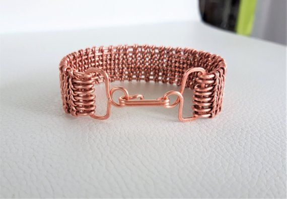 Antiqued Copper Wire Wred Bracelet