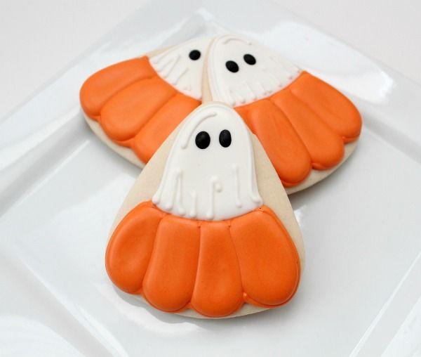 cuteCookies Ideas, Sugar Cookies, Pumpkin Cookies, Pumpkin Ghosts, Decor Cookies, Creative Cookies, Cookies Cutters, Ghosts Cookies, Halloween Cookies