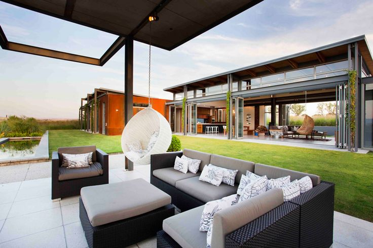 Warm in Winter, Cold in Summer: Modern Sustainable Home in South Africa   DesignRulz.com