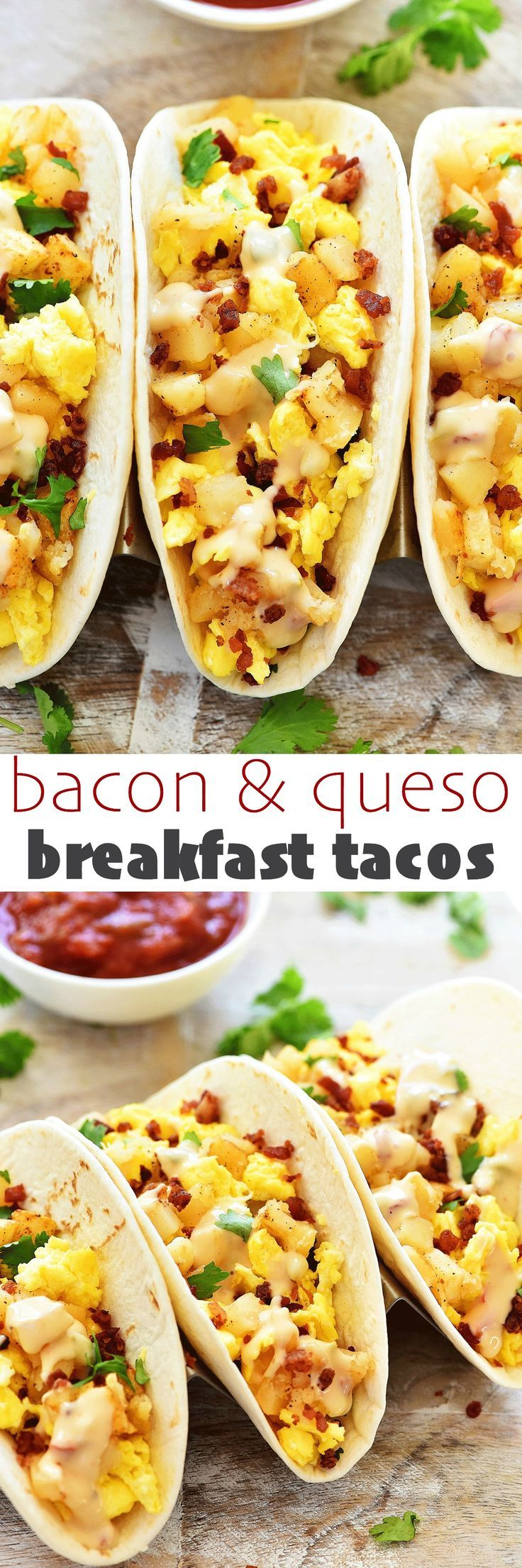 My friends, boy do I have a Taco Tuesday recipe for you! Let me introduce to you my BACON & QUESO BREAKFAST TACOS! Aka. my latest creation that was lip-smackin' amazing!! I love me a good taco. And I'll eat them anytime of the day… for lunch, dinner and even breakfast! These breakfast tacos are filled with... Read More »