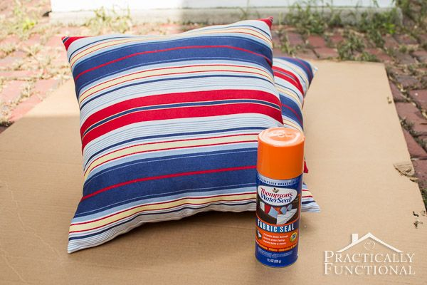 How To Make Outdoor Cushions Waterproof.How To Make Fabric Waterproof How To Make Pillows