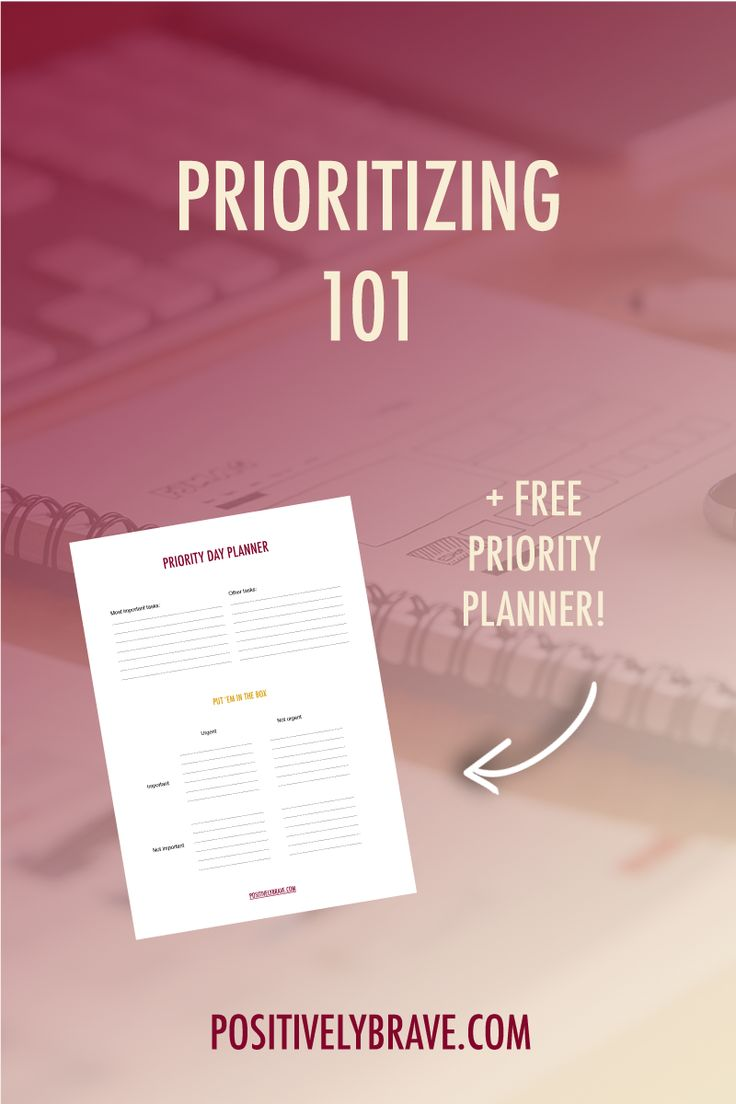 Prioritize your life! These are my tips when it comes to setting priorities. It's not that you don't have time, you don't have time management. With the post I have the free priority planner to help you find your priorities.