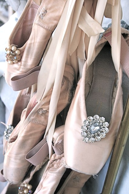 Ballet shoes w/ broaches