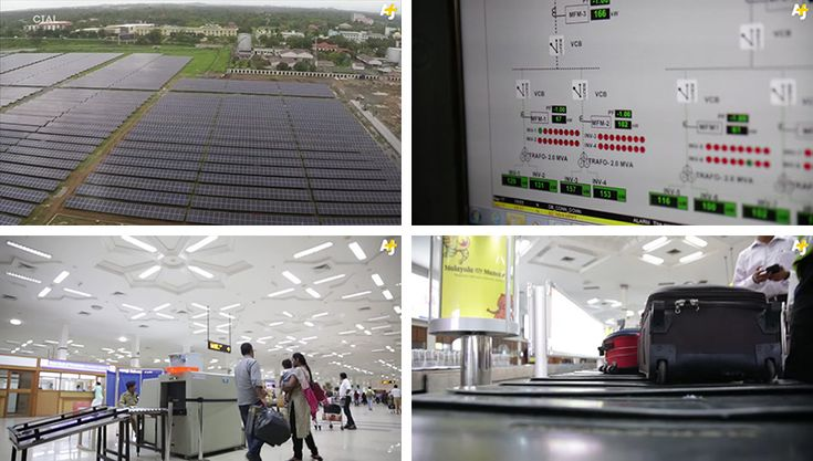 WORLDS FIRST SOLAR POWERED AIRPORT Cochin International Airport in Kochi, India