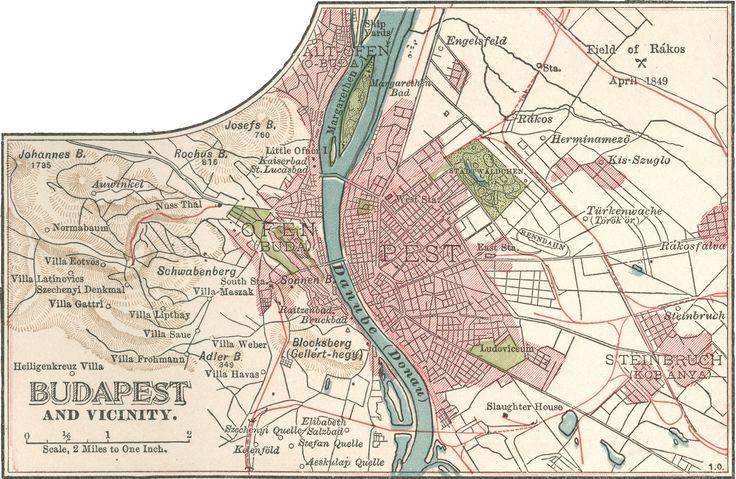 Old Budapest/Budapest régen: Budapest 1900 - Map