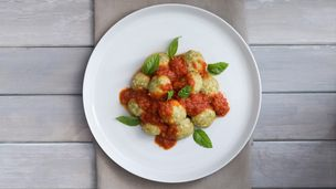 Ricotta dumplings with napoli sauce