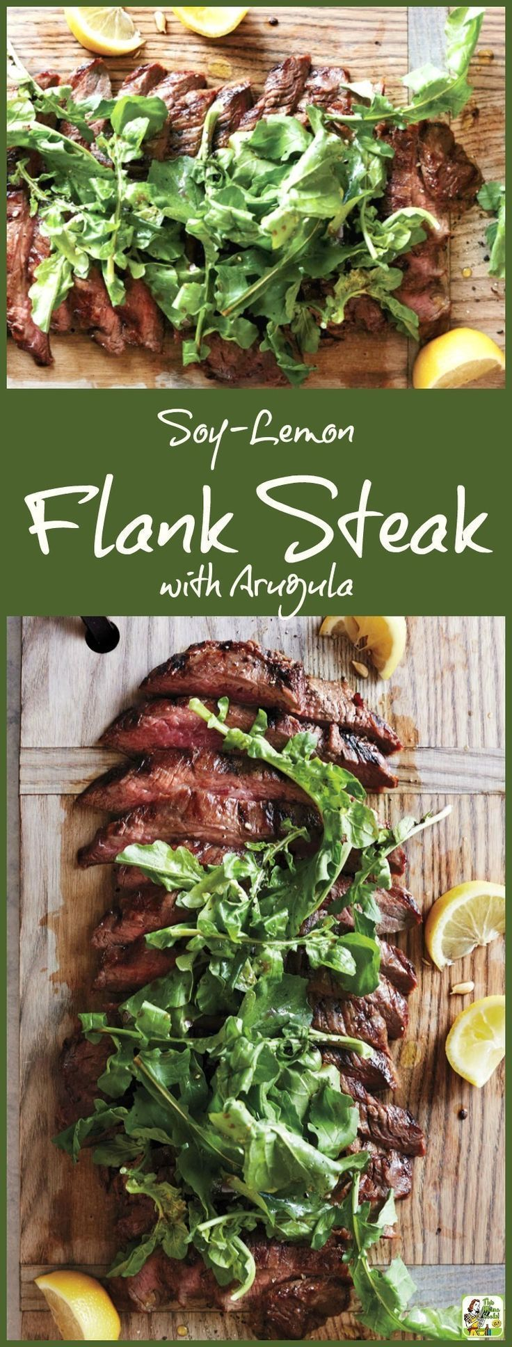 Love to grill? Then you'll enjoy making this easy Soy-Lemon Flank Steak with Arugula recipe. Super simple preparation. Easy enough to make in the morning before work or when you get home before dinner. Use as a weeknight dinner recipe or triple for the pe