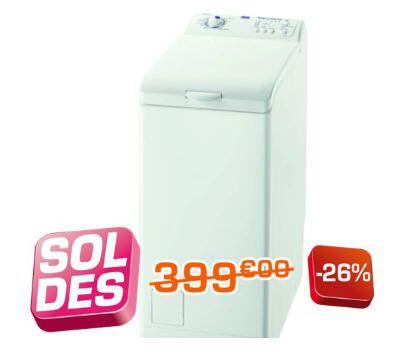 oldes Lave linge top FAURE FWQ5122 prix soldes Boulanger 299,25 € au lieu de 399,00 €