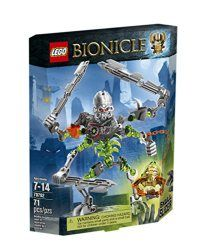 LEGO Bionicle 70792 Skull Slicer Building Kit  Get 4-armed and dangerous with the Skull Slicer! Ambush LEGO BIONICLE heroes with evil Skull Slicer featuring 4-arm battle function, 3 hook blades, mask grabber and mask pop-off trigger! Patrol the ruins of the ancient arena with the menacing Skull Slicer! This ancient champion has been animated by the dark magic of the Skull Spider