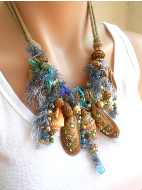 Free Shipping Statement Necklace Beach Bohemian Ocean Boho