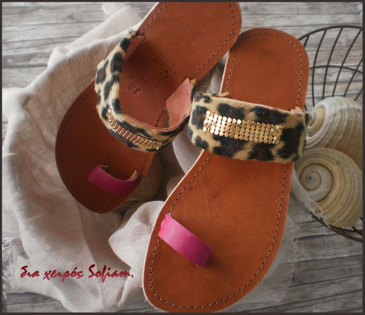 14.011 leopard leather sandals