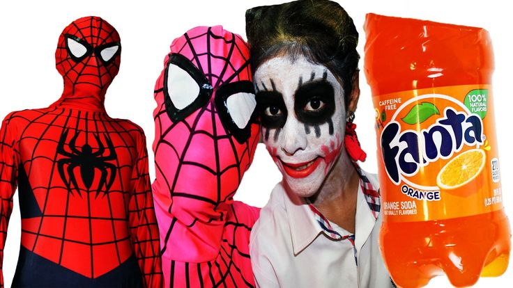 Spiderman Pink Spidergirl Joker Pepsi Fanta Jelly bottle how to jelly su...