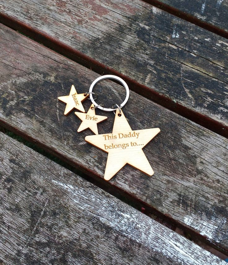 Father's Day keyring, This daddy belongs to, Father's day gift, wooden keyring,  godparent gift, grandparent gift, personalised keyring, by celebrateyourway on Etsy