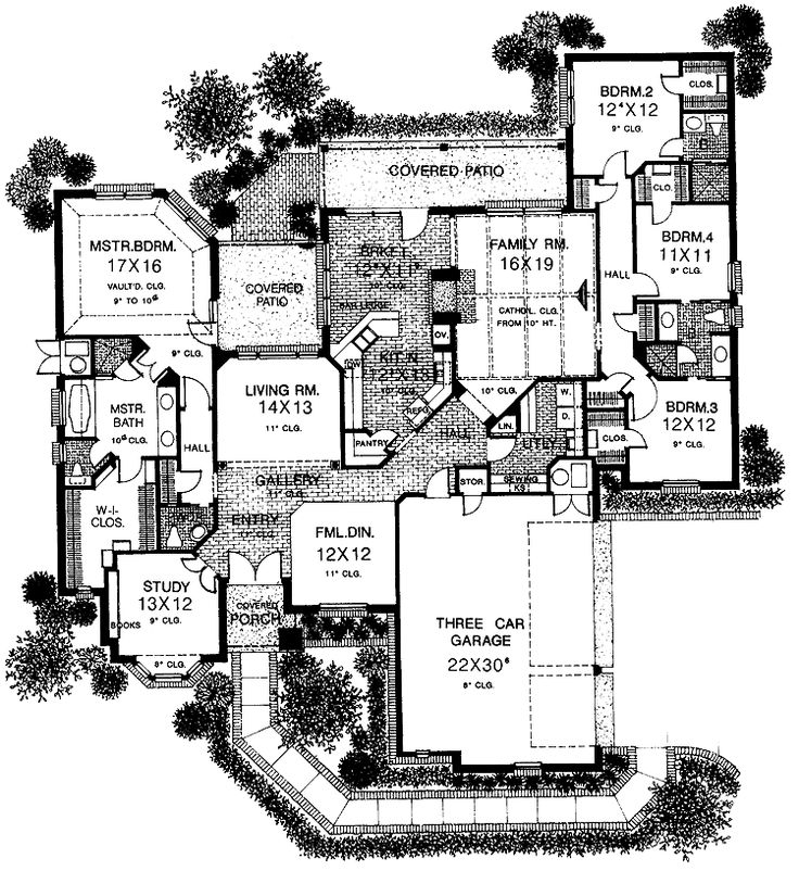 750 best images about house plans on pinterest for 3 car garage cost per square foot