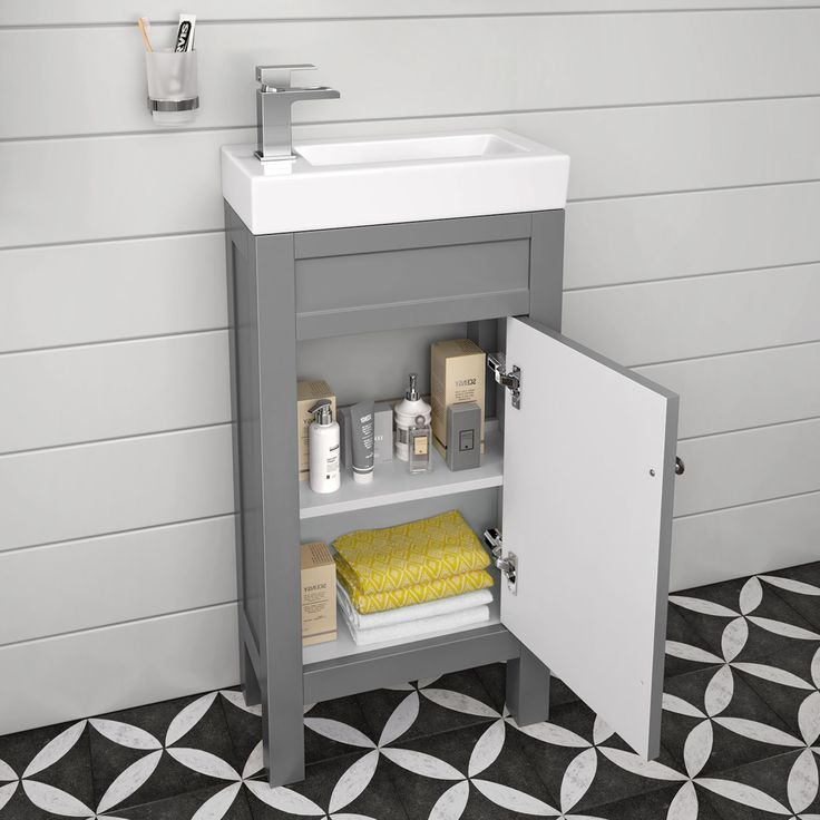 Nice Little Free Standing Vanity Works Well In Even The Tiniest Space Cloakroom Vanity Unit Small Toilet Room Sink Vanity Unit