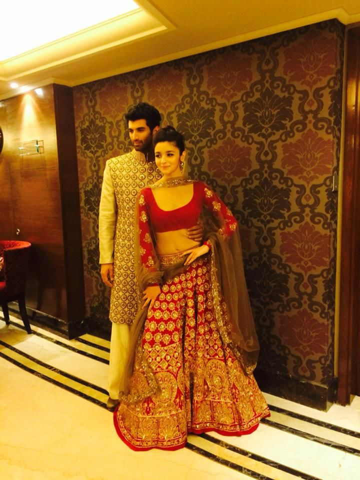 Aditya Roy Kapoor And Alia Bhatt For Manish Malhotra