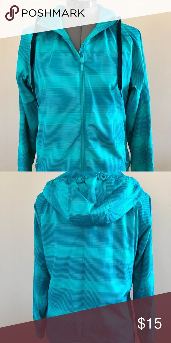 Merrell Women's Active Jacket Awesome teal striped jacket. Perfect for running, or activewear. Like new, no rips or stains. Merrell Jackets & Coats