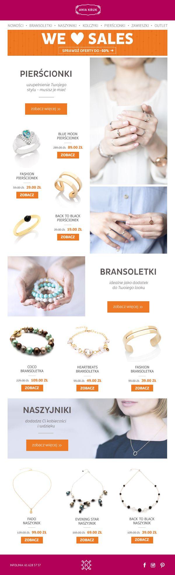 Wyprzedażowy newseletter dla sklepu aniakruk.pl #wyprzedaż #aniakruk #newsletter