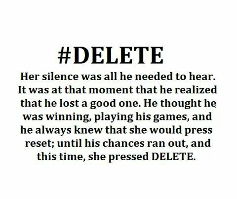 From someone who hits reset, I can vouch for the severity of delete.