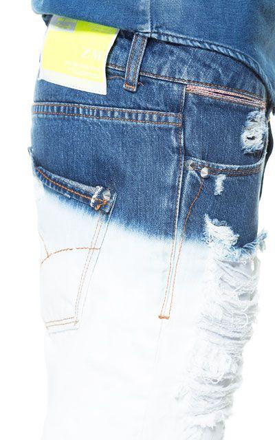 DIP DYE DENIM BERMUDA SHORTS - Jeans - Man   ZARA United States