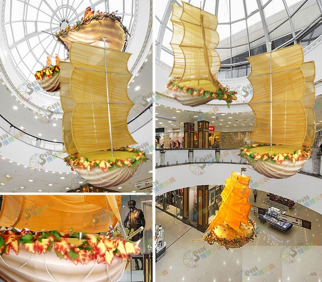 Сайты поиска Нидерландов, декорации, реквизит, парусник, воздушный шар во дворе, украшение, осень...