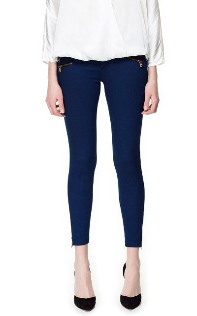 TROUSERS WITH ZIPS from Zara