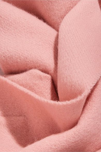 Acne Studios - Canada Narrow Fringed Wool Scarf - Pink - one size
