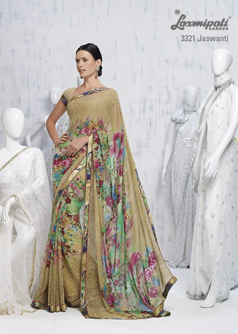 First rates chikan embroidery blouse with gorgeous saree will concurrent the trend setting pattern in the printed sarees.