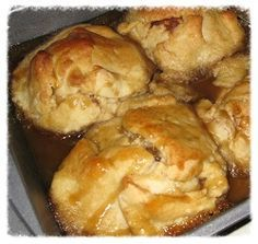 Hot Apple Dumplings are like Hot Apple Pies, they are just hard to beat. Hot out of the oven with ice cream and a glass of milk, delicious. Free Recipe here