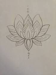 simple lotus drawing - Google Search
