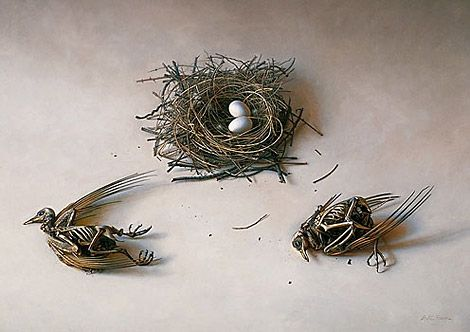 """Scott Fraser. Life Cycle   Oil on Panel, 25"""" x 34"""" 