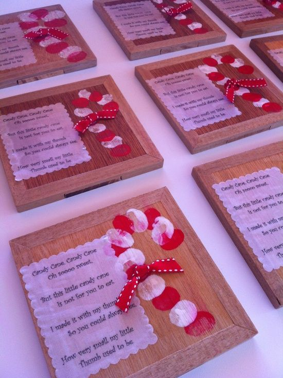 Be sure to read the poem!!! So sweet! Thumbprints make this cute candy cane