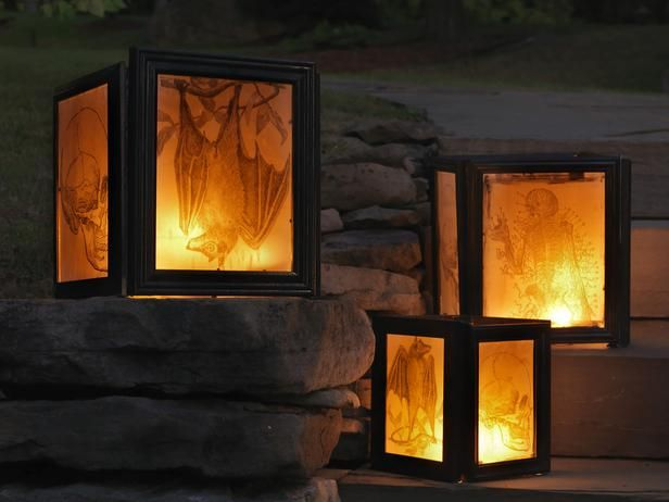 How to Make Halloween Lanterns : Home Improvement : DIY Network, the secret is dollor store picture frames