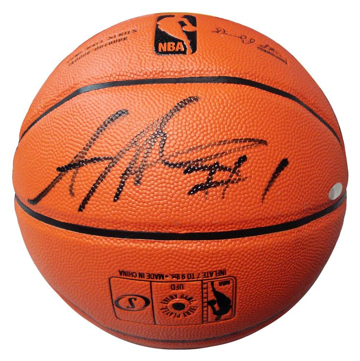 Autographed Amare Stoudemire Spalding Indoor/Outdoor Basketball.