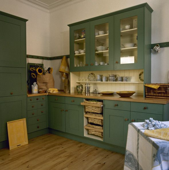 Green Kitchen Cupboard: 17 Best Ideas About Green Country Kitchen On Pinterest