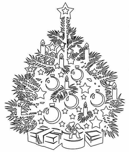 Нарядная елка  - Трафарет на подвеску, витраж - украшение к РОЖДЕСТВУ, к НОВОМУ ГОДУ