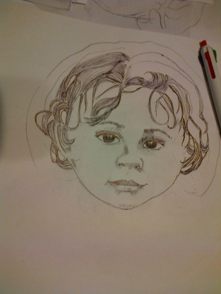 Sketch for doll face