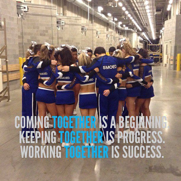 Perfect way to describe the team this year! We've had our downs but that's all behind us. Its only up from here<3