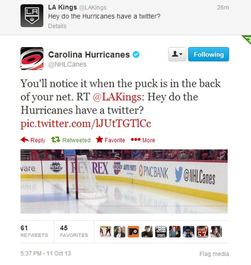 Kings vs. Hurricanes